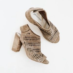 Jeffrey Campbell | Taupe Perforated Quebec Sandals